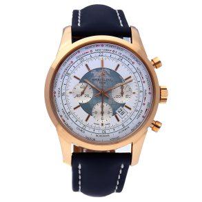 Casual Men Rose Gold Replica Breitling Transocean Chronograph Unitime Rb0510u0/A733