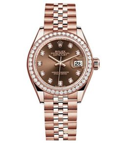 Rolex m279135rbr-0018 18 ct Everose Gold Automatic Movement Watch