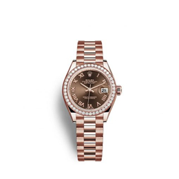 Rolex M279135rbr-0016 18 Ct Everose Gold Automatic Movement Watch