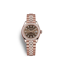Rolex M279135rbr-0008 18 Ct Everose Gold Automatic Movement Watch