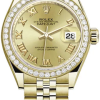 Rolex M279138rbr-0022 18 Ct Yellow Gold Automatic Movement Watch
