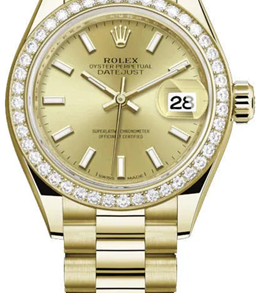 Rolex M279138rbr-0014 18 Ct Yellow Gold Automatic Movement Watch