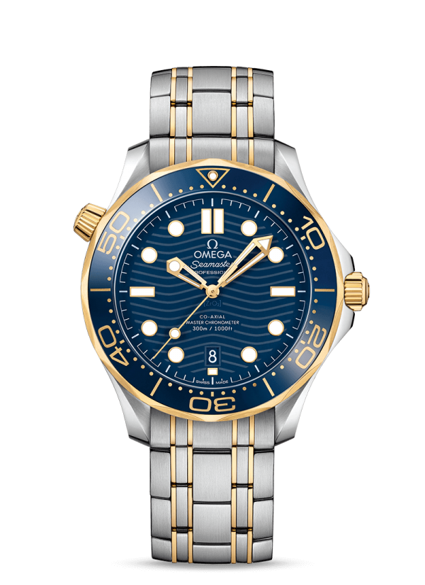 Omega 210.20.42.20.03.001 Seamaster Case 42 Mm Gold Steel Watch