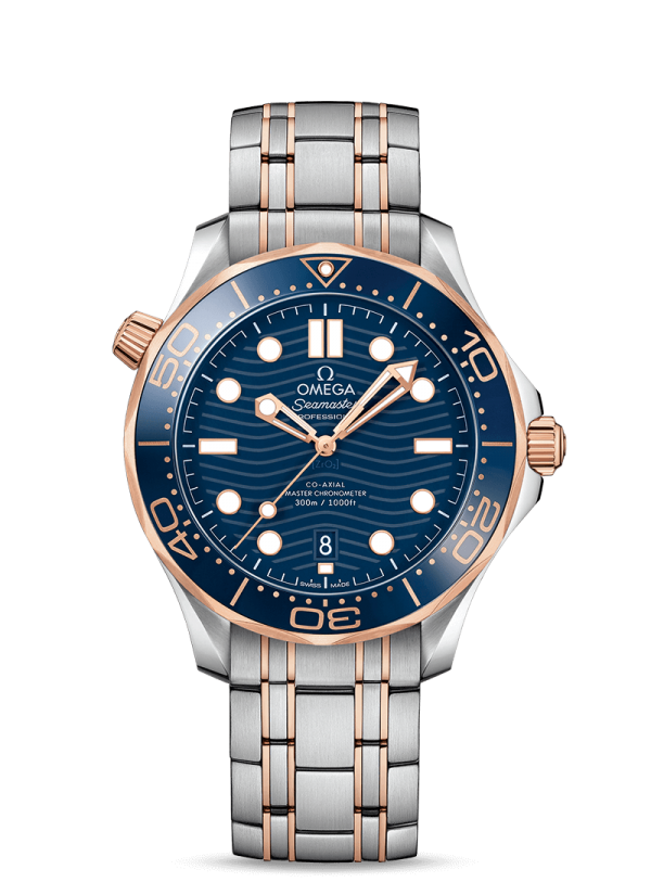 Omega 210.20.42.20.03.002 Seamaster Dial Blue Stainless Steel Watch