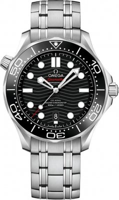 Omega 210.30.42.20.01.001 Seamaster Case 42mm Dial Black Stainless Steel