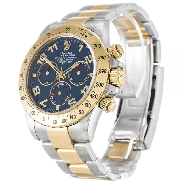 Rolex Daytona 116523 Mens Steel Automatic 40 MM Blue Arabic Watch