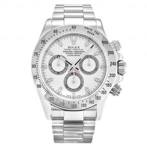 Rolex Daytona 116520 Mens White Steel Automatic 40 MM Watch