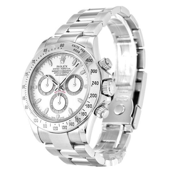 Rolex Daytona 116520 Mens White Steel Automatic 40 MM Watch