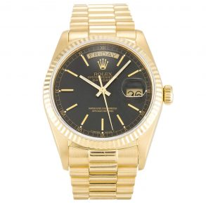 Rolex Day-Date 1803 36 MM Automatic Mens Champagne Baton Watch