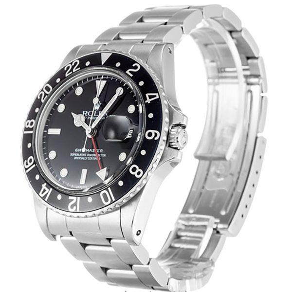 Rolex GMT Master 16750 Mens 40 MM Black Automatic Steel Watch