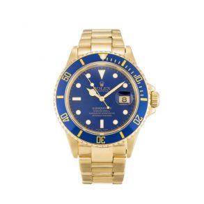 Rolex Submariner 16618 Mens 40 MM Blue Automatic Steel Watch
