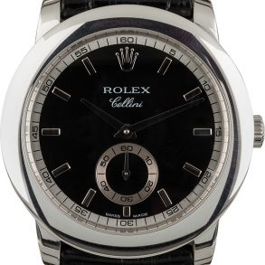 Rolex Cellini 5241 Men's Case 38mm Leather Strap