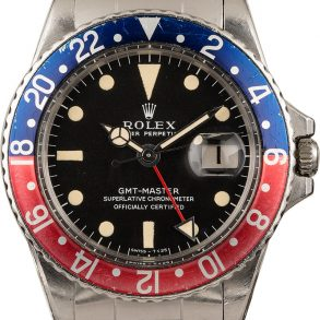 Rolex Gmt-master 1675 Men's Dial Black Stainless Steel
