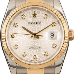 Rolex Datejust 116233 Men's Dial Silver Jubilee Stainless Steel