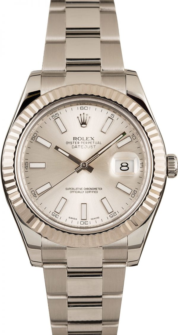 Rolex Datejust Ii 116334 Men's Case 41mm Automatic 3136