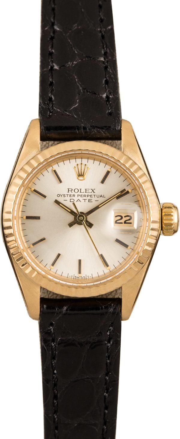Rolex Ladies Datejust 6917 Ladies Dial Silver Index Automatic 2030