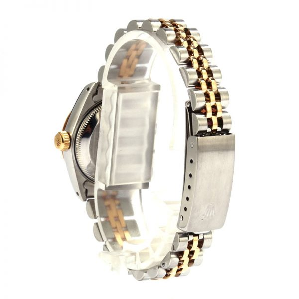 Rolex Datejust 69173 Ladies Dial Silver Tapestry 18k Yellow Gold