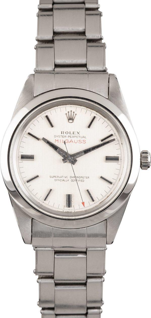 Rolex Milgauss 1019 Men's Dial White Manual Movement