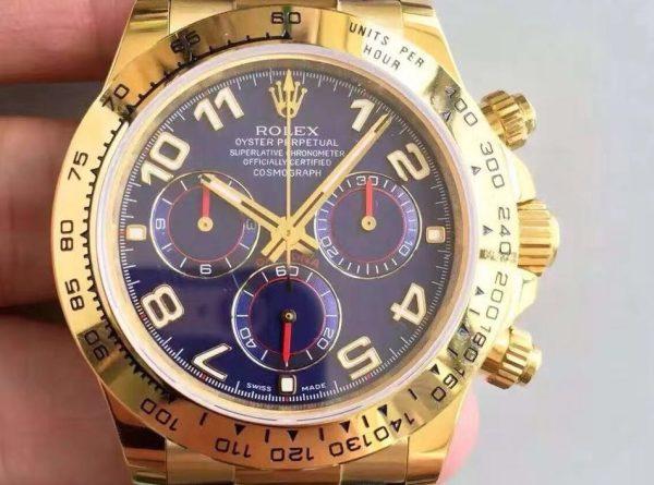Rolex Daytona 116528 Mens 40 MM Automatic Blue Arabic Watch