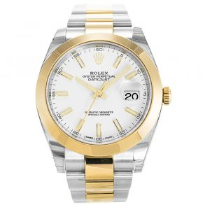 Rolex Datejust II 126303 Mens 41 MM Gold Plated Automatic White Watch