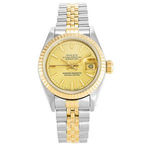Rolex Datejust 69173 Ladies 26 MM Automatic Gold Plated Watch