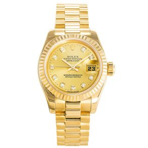 Rolex Datejust 179178 Ladies 26 MM Automatic Gold Plated Watch