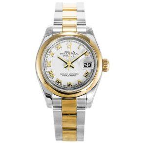 Rolex Datejust 179163 Ladies White Automatic 26 MM Steel Watch