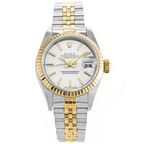 Rolex Datejust 79173 Ladies White Steel Automatic 26 MM Watch