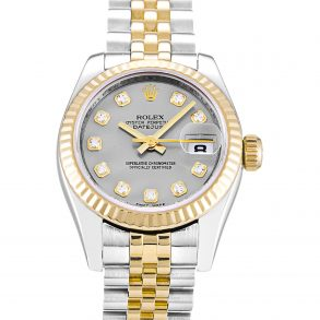 Rolex Datejust 179173 Ladies 26 MM Automatic Silver Diamond Watch