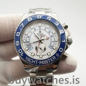 Rolex Yacht-master 116680 Mens Automatic White 44 mm Steel Watch