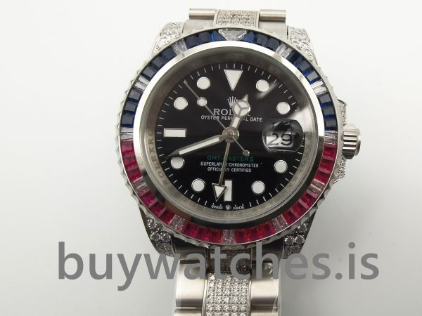 Rolex GMT-Master II 116759 Black With Diamonds 40 mm Automatic Mens Watch