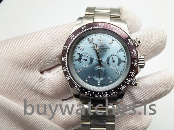 Rolex Daytona 116506 Light Blue Mens Automatic 950 Platinum Watch