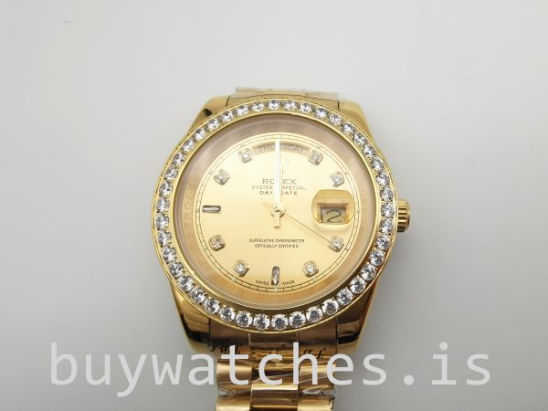 Rolex Day-Date 128348rbr 36 mm Gold With Diamonds Unisex Automatic Watch