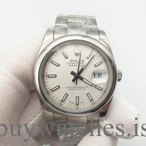 Rolex Datejust 126300 Men's 41 Silver Dial Oystersteel Reference Watch