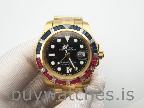 Rolex GMT-Master II 116748 Yellow Gold Unisex 40mm Automatic Watch