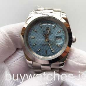 Rolex Day-Date 228206 Mans 40 Mm Blue Dial Style Steel Automatic Watch