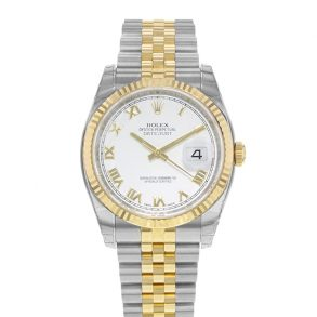 Rolex Datejust 116233 Women White Steel 36 mm Automatic Watch