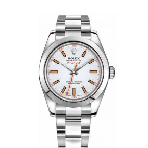 Rolex Milgauss116400 Mens 40mm Orange Steel Automatic Watch