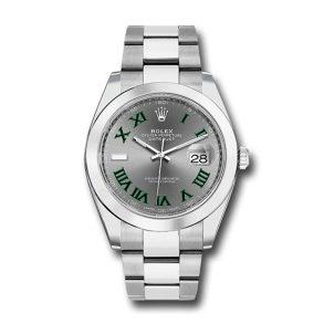 Rolex Datejust 126300 Grey Unisex 41 Mm Fold Clasp Steel Automatic Watch