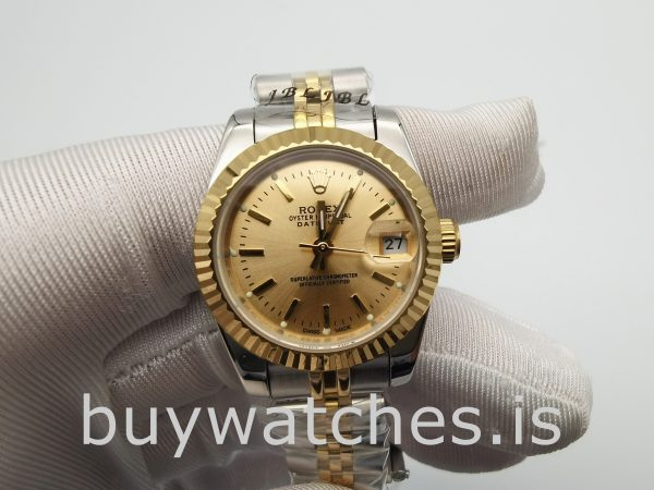 Rolex Datejust 179173 Ladies 26 mm Gold Automatic Stainless Steel Watch