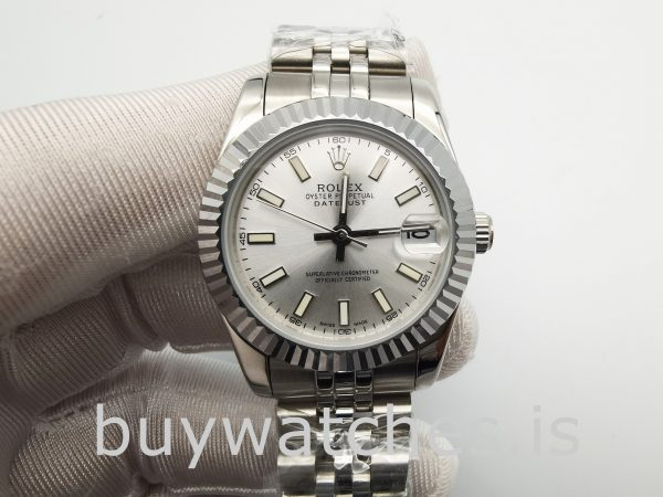 Rolex Mid-Size Datejust 68274 Ladies 31 mm Steel Silver Automatic Watch