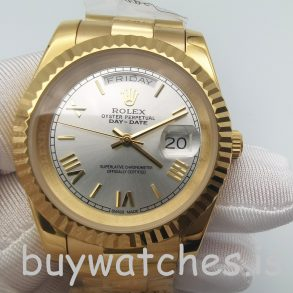 Rolex Day-Date II 218238 Automatic Mens 41 mm Steel Yellow Gold Watch