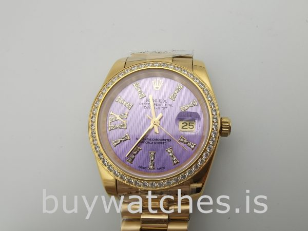 Rolex Datejust 278384 Ladies 31 mm Automatic Purple With Diamonds Watch