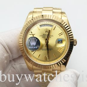 Rolex Day-Date 228238 Yellow Gold 40 mm Automatic Unisex Steel Watch