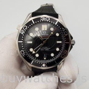 Omega 210.22.42.20.01.004 Seamaster Black Rubber 42 Mm Automatic Watch