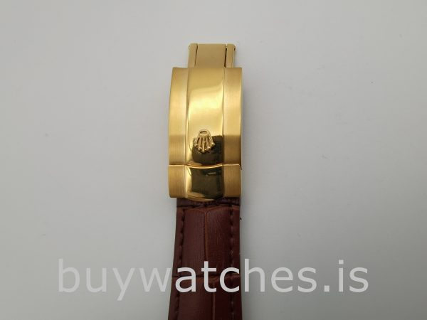 Rolex Day-Date 1503 Unisex Gold Crocodile Skin 34 mm Automatic Watch