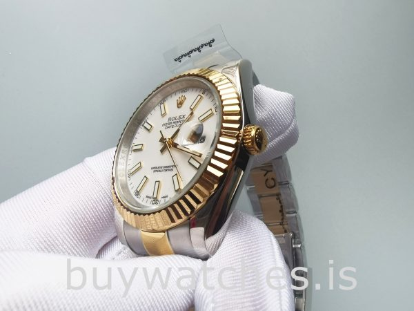 Rolex Datejust Oyster White Stk Asian 2813 Men White Automatic watch