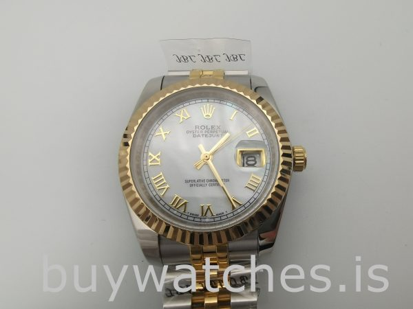 Rolex Datejust 116233 Women White Steel 36 mm Automatic Watch