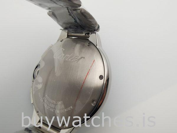 Cartier Ballon Bleu W6920002 Silver Men's Steel 47mm Automatic Watch