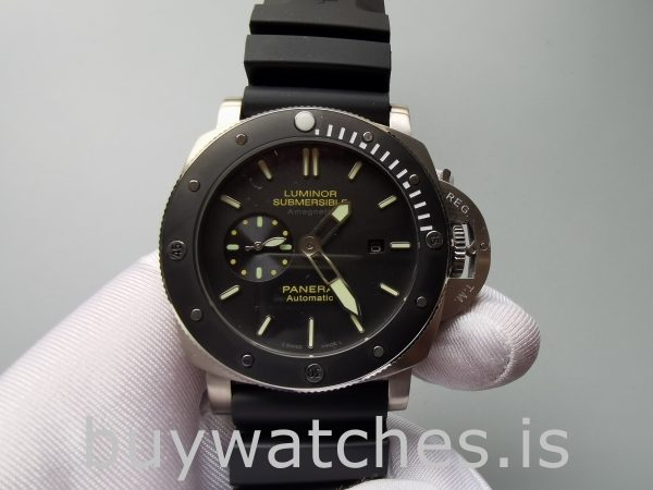 Panerai Luminor Submersible Pam00389 Mens Black 47mm Automatic Watch
